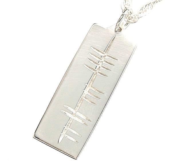 Ogham pendant irish jewel silver ogham pendant aloadofball Images