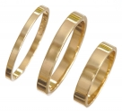 Flat Shape 18k Wedding Rings