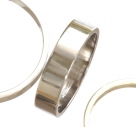 Flat Shaped Platinum Wedding Rings