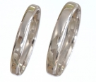 D Shaped Platinum Wedding rings