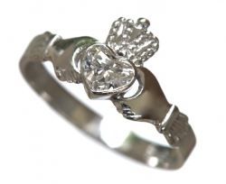 GIA Diamond Claddagh Ring