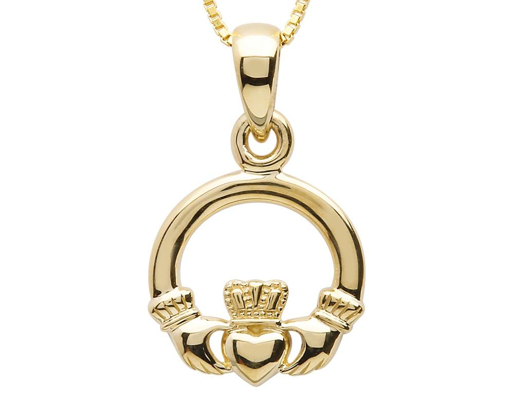 Claddagh pendant irish jewellery irish jewel irish claddagh pendant aloadofball Image collections