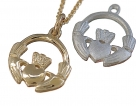 Small Doubled Sided Claddagh Pendant