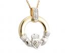 Diamond Claddagh Pendant