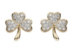 Diamond Shamrock Earrings