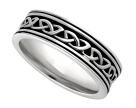Silver Celtic Ring Set