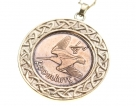 Irish Old Coin Pendant