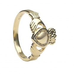Diamond Claddagh Ring