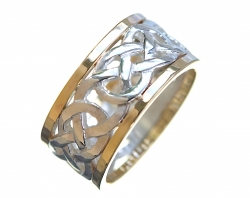 Silver and Gold Celtic Wedding Ring