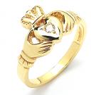 Gents Claddagh Diamond Ring