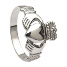 Claddagh Ring-white gold