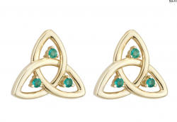 Emerald Celtic Earrings