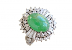 Diamond and Jade Ring