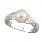Trinity Knot Pearl Ring