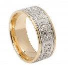 Celtic Warrior Shield Ring W/Gold 6.6mm