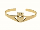 Silver & Gold Claddagh Bangle
