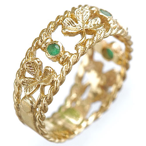 shamrock ring handcrafted jewelry