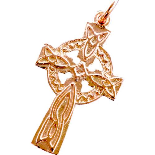 Rose Gold Celtic Cross Irish Jewel Handmade Irish Jewelry