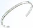 Bangle-4.5mm Flat with round edge Silver
