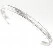 Ogham Bangle-5.7mm Silver oval-shaped wire