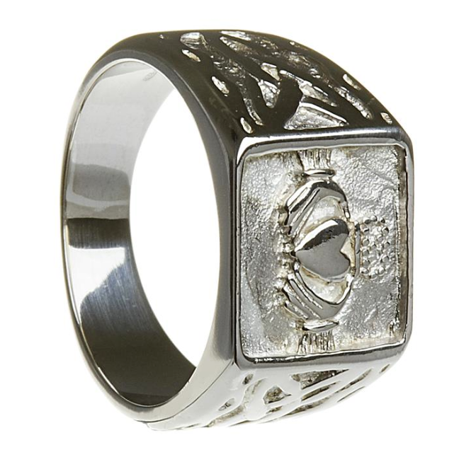 claddagh signet ring handcrafted