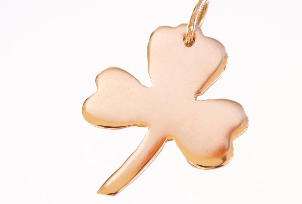 Shamrock pendant rose gold shamrock pendant irish jewel rose gold shamrock pendant aloadofball Images