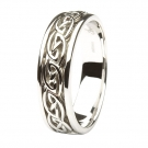 14k White Celtic Ring