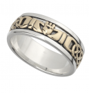 Silver Claddagh Band