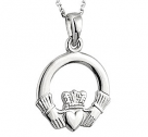 14k White Gold Claddagh