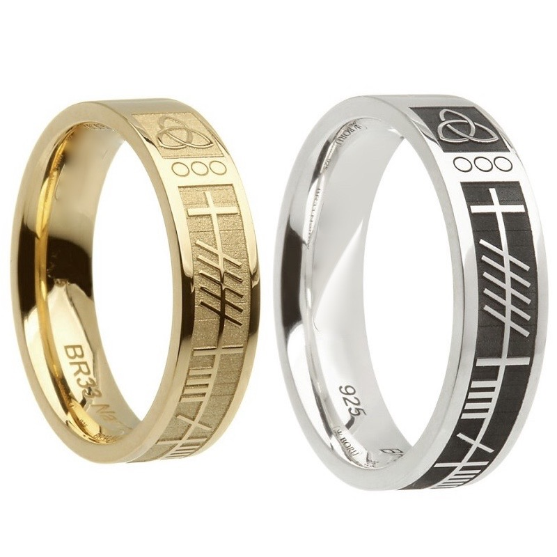 personalised in wedding p for uk ring rings men ogham mens titanium the s