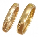 D Shape 18k Yellow Gold